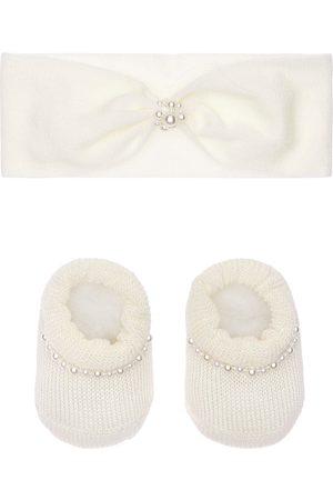 La Perla Damen Stirnbänder - Stirnband Und Socken Aus Strick Mit Perlenimitat