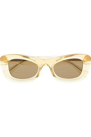 Bottega Veneta Eyewear Transparent rectangle-frame sunglasses