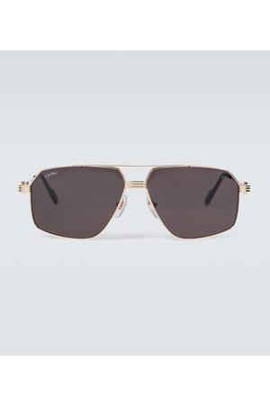 Cartier Eyewear Collection Aviator-Sonnenbrille aus Metall