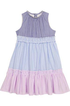 Il Gufo Gestreiftes Kleid aus Baumwolle