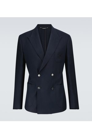 Dolce & Gabbana Herren Blazer & Sakkos - Zweireihiger Blazer aus Leinen