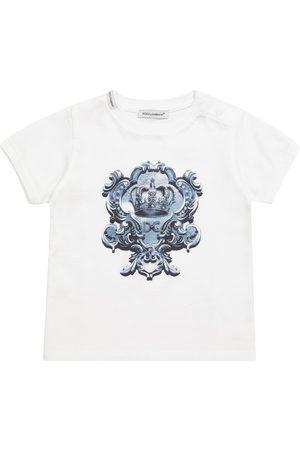 Dolce & Gabbana Kids Shirts - Baby T-Shirt aus Baumwolle