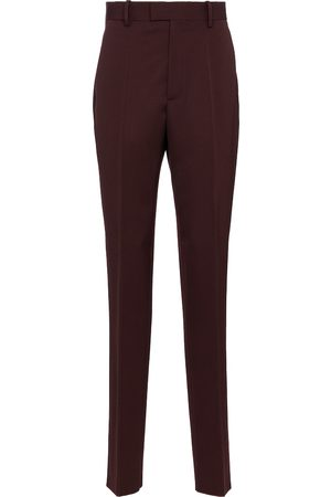 Bottega Veneta High-Rise-Hose aus Wolle