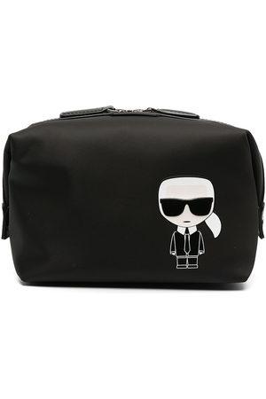 Karl Lagerfeld K/Ikonik rectangular make-up bag