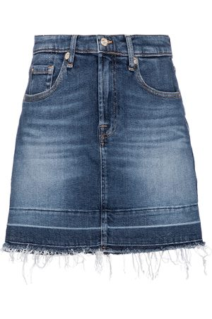 7 For All Mankind High-Rise-Jeansrock
