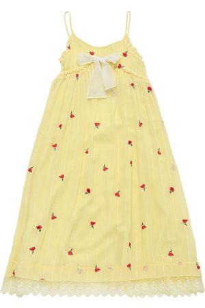 Chloé Besticktes Seiden Langes Kleid