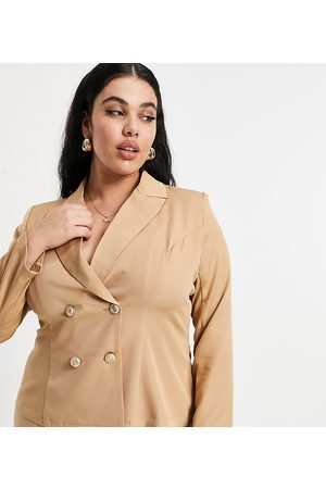Outrageous Fortune Tailored blazer co ord in camel-Tan