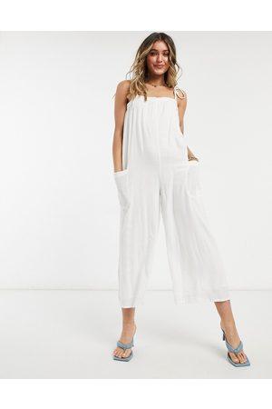 ASOS ASOS DESIGN maternity cami minimal pocket jumpsuit in black