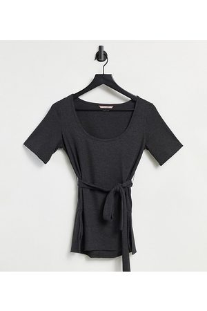 Catch Exclusive ribbed belted tunic in charcoal-Grey