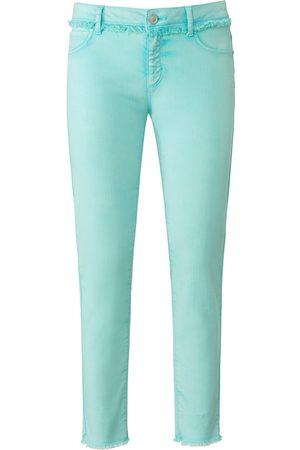 DAY.LIKE Knöchellange Slim Fit-Jeans türkis