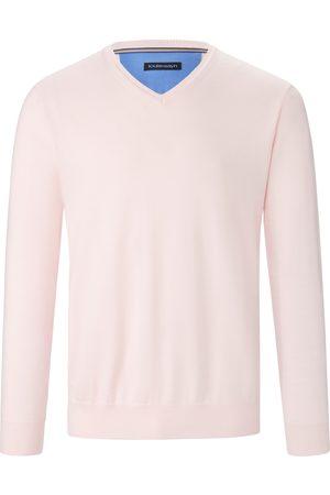 Louis Sayn Herren Pullover - V-Pullover aus 100% Baumwolle Pima Cotton rosé