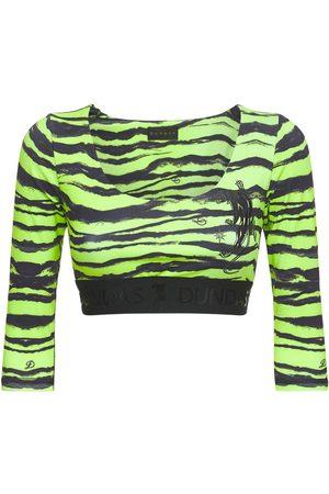 Dundas Damen Blusen - Bedrucktes Hemd Aus Seide Und Lycra Mit Logo