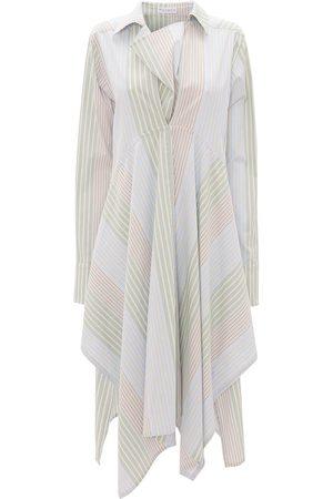 J.W.Anderson Stripe-pattern asymmetric shirtdress