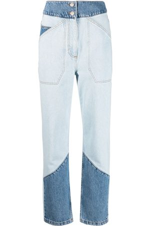 Bash Apolo high-waisted patchwork jeans