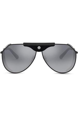 Dolce & Gabbana Herren Sonnenbrillen - Logo-plaque goggle-frame sunglasses