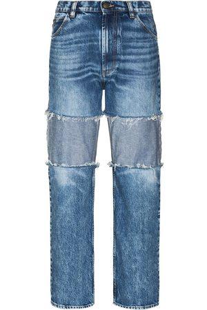Maison Margiela Damen Baggy & Boyfriend - Reverse-panel high-rise boyfriend jeans