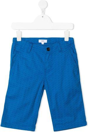 HUGO BOSS Jungen Shorts - Logo-printed Bermuda shorts