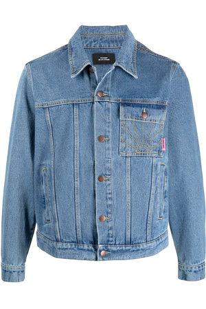 PACCBET Rassvet-embroidered denim jacket