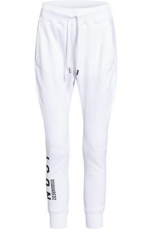 Dsquared2 Damen Lange Hosen - Sweatpants weiss