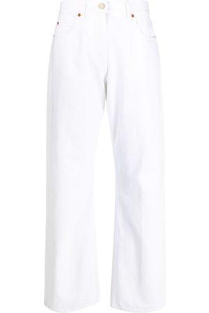 VALENTINO Mid-rise straight-leg jeans