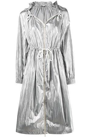 Moncler Metallic hooded jacket