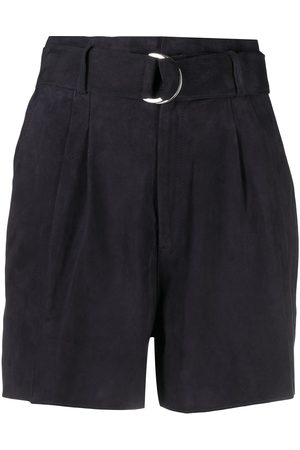 P.a.r.o.s.h. Belted suede shorts