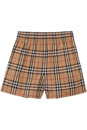Burberry Damen Shorts - Vintage Check side-stripe shorts