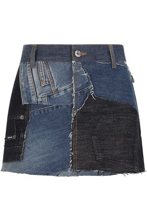 Dolce & Gabbana Patchwork denim skirt