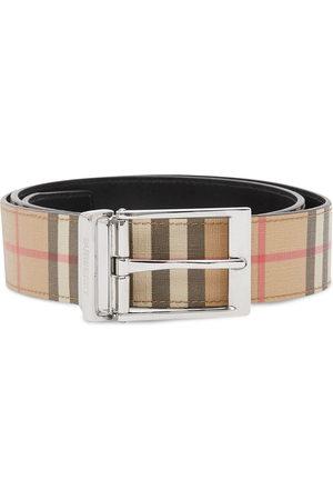 Burberry Herren Gürtel - Reversible check leather belt