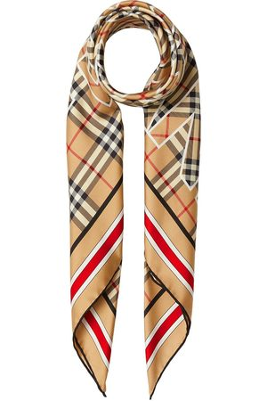 Burberry Vintage Check logo-print square scarf