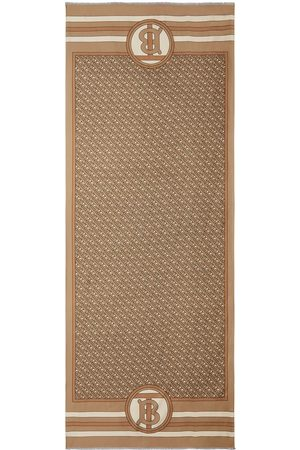 Burberry Reversible Monogram print silk scarf