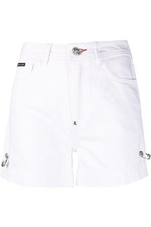 Philipp Plein Safety-pin denim shorts