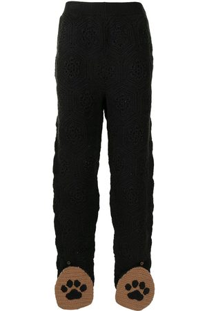 DOUBLET Herren Jogginghosen - Monogram-patterned track pants