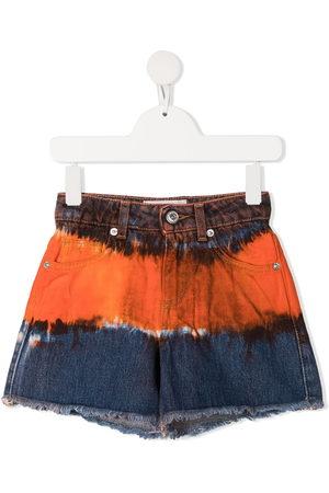 Alberta Ferretti Mädchen Shorts - Sprayed detail denim shorts