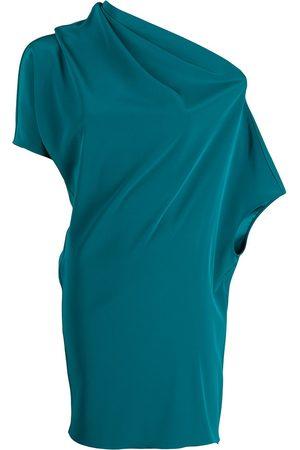 GIANLUCA CAPANNOLO Asymmetric draped blouse