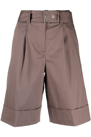 PESERICO SIGN Belted tailored shorts