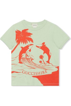 Gucci Jungen Shirts - Gucci Shire whale-print T-shirt