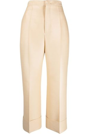 Jil Sander Damen Stoffhosen - Cropped tailored trousers