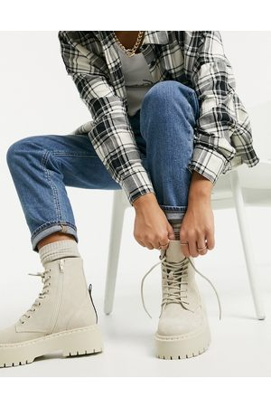 Steve Madden Skylar chunky lace up boots in suede