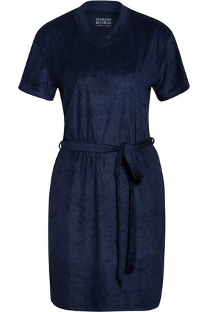 Schiesser Damen Nachthemden - Nachthemd blau