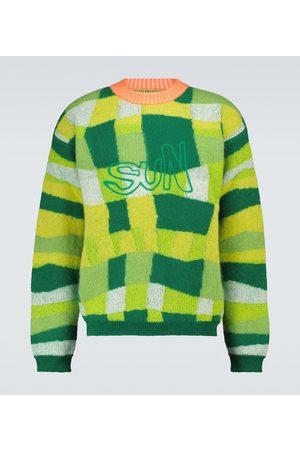 ERL Patchwork-Pullover mit Wollanteil