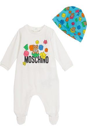 Moschino Baby Set aus Strampler und Mütze
