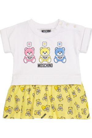 Moschino Baby Kleid aus Stretch-Baumwolle