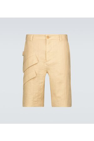 Jacquemus Herren Shorts - Bermuda-Shorts Le Short Raphia