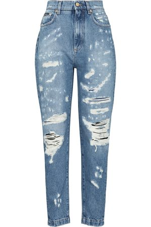 Dolce & Gabbana Distressed High-Rise Jeans