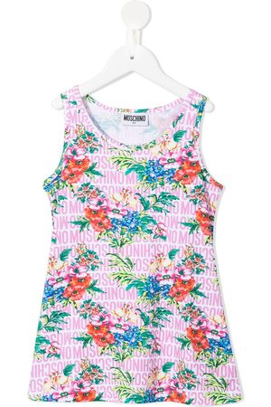 Moschino Floral logo print vest top
