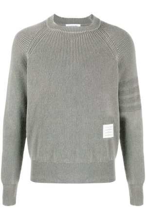 Thom Browne Garment-dyed 4-bar pullover