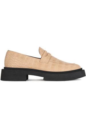 Giuseppe Zanotti Crocodile-effect chunky sole loafers