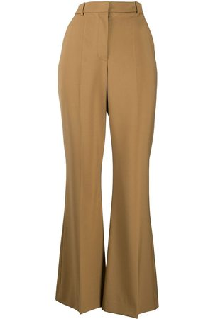 adidas High-waisted flared tailored trousers