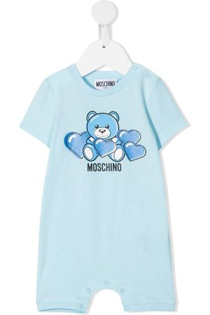 Moschino Kids Mädchen Jumpsuits - Bear-motif cotton romper
